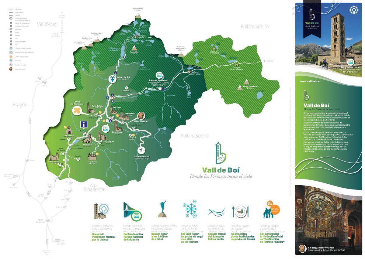 Caldes De Boi Mapa.El Patronat De La Vall De Boi Edita Un Nuevo Mapa Guia Vall De Boi